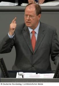 Peer Steinbrück, 2008 im Bundestag
