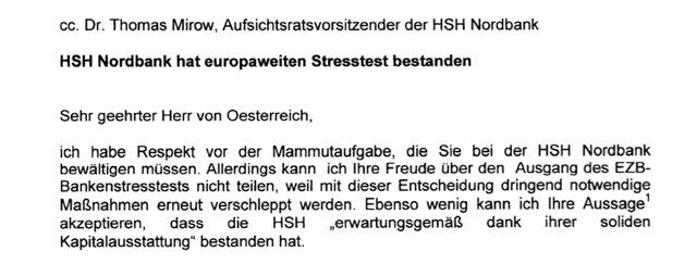 Offener Brief an HSH Vorstand von Oesterreich