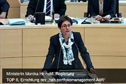 Finanzsenatorin Monika Heinold in der Debatte um die HSH Nordbank