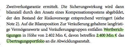 Um 2,4 Mrd. hat die HSH das Schiffskreditpaket für die Länder-Abwicklungseinheit im Wert nach unten korrigiert.